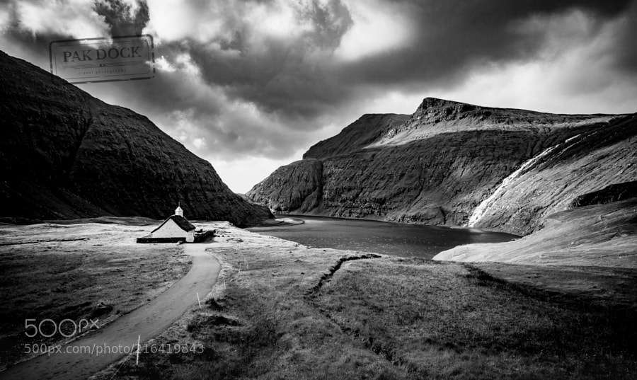 Saksun B&W - Faroe Islands