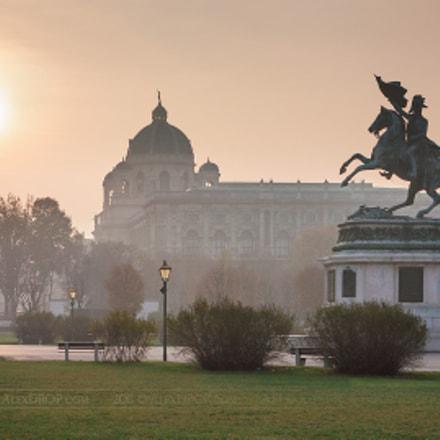 Hazy winter day in Vienna