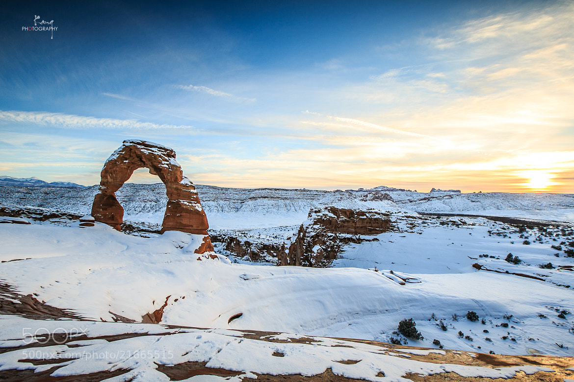 Photograph Delicate Arch after snow by Zhuokang Jia on 500px