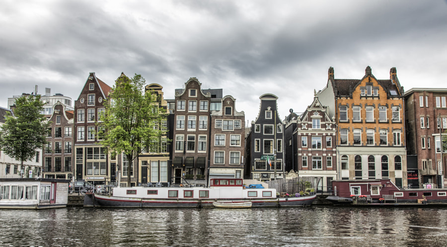 Leaning houses, Amsterdam