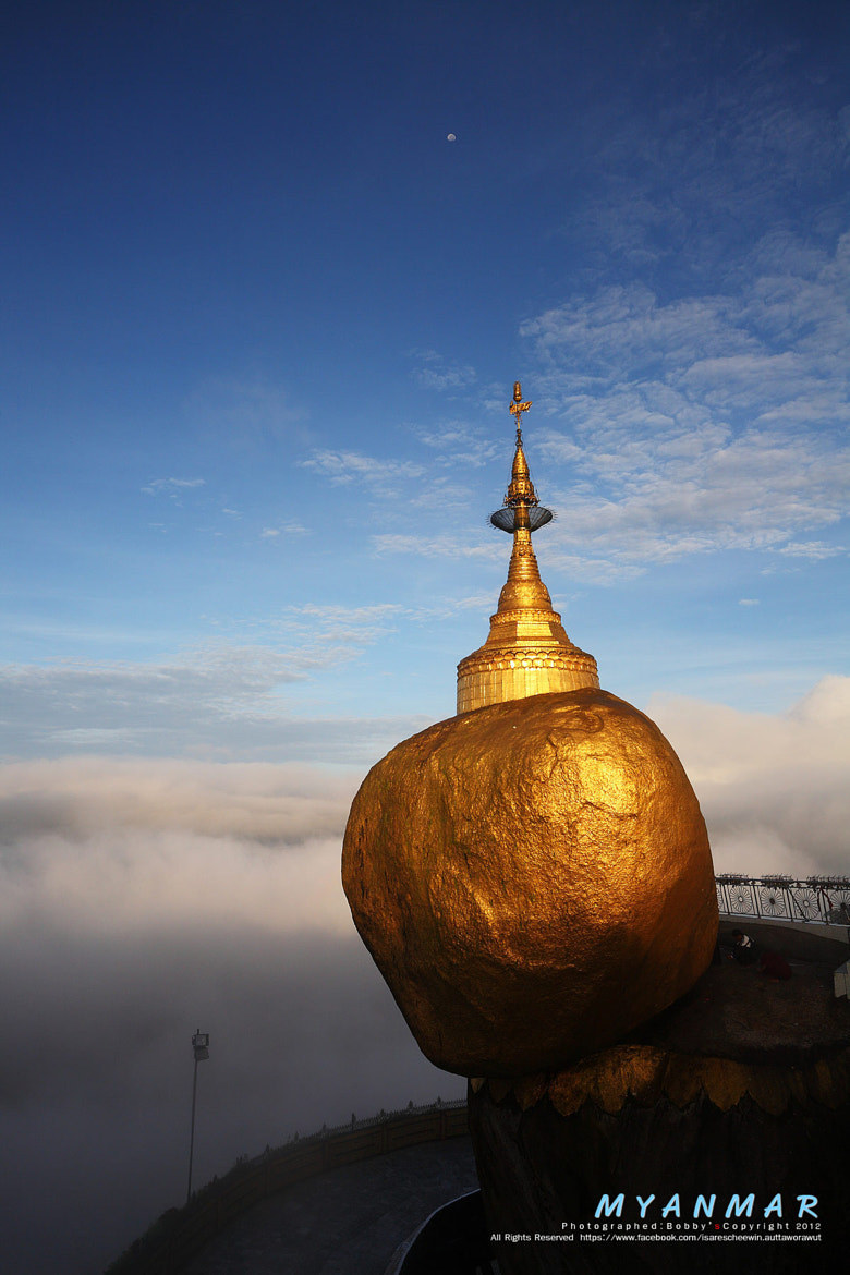 Photograph Golden rock mist in the morning, Kyaiktiyo Pagoda in Yangon, Myanmar by isarescheewin auttaworawut on 500px
