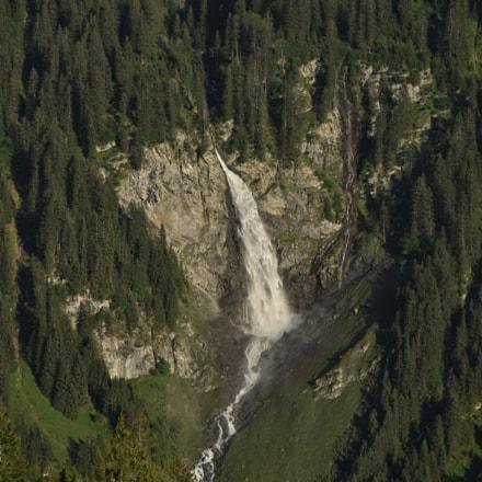 Stäuber Waterfall in the Swiss Madaner Valley
