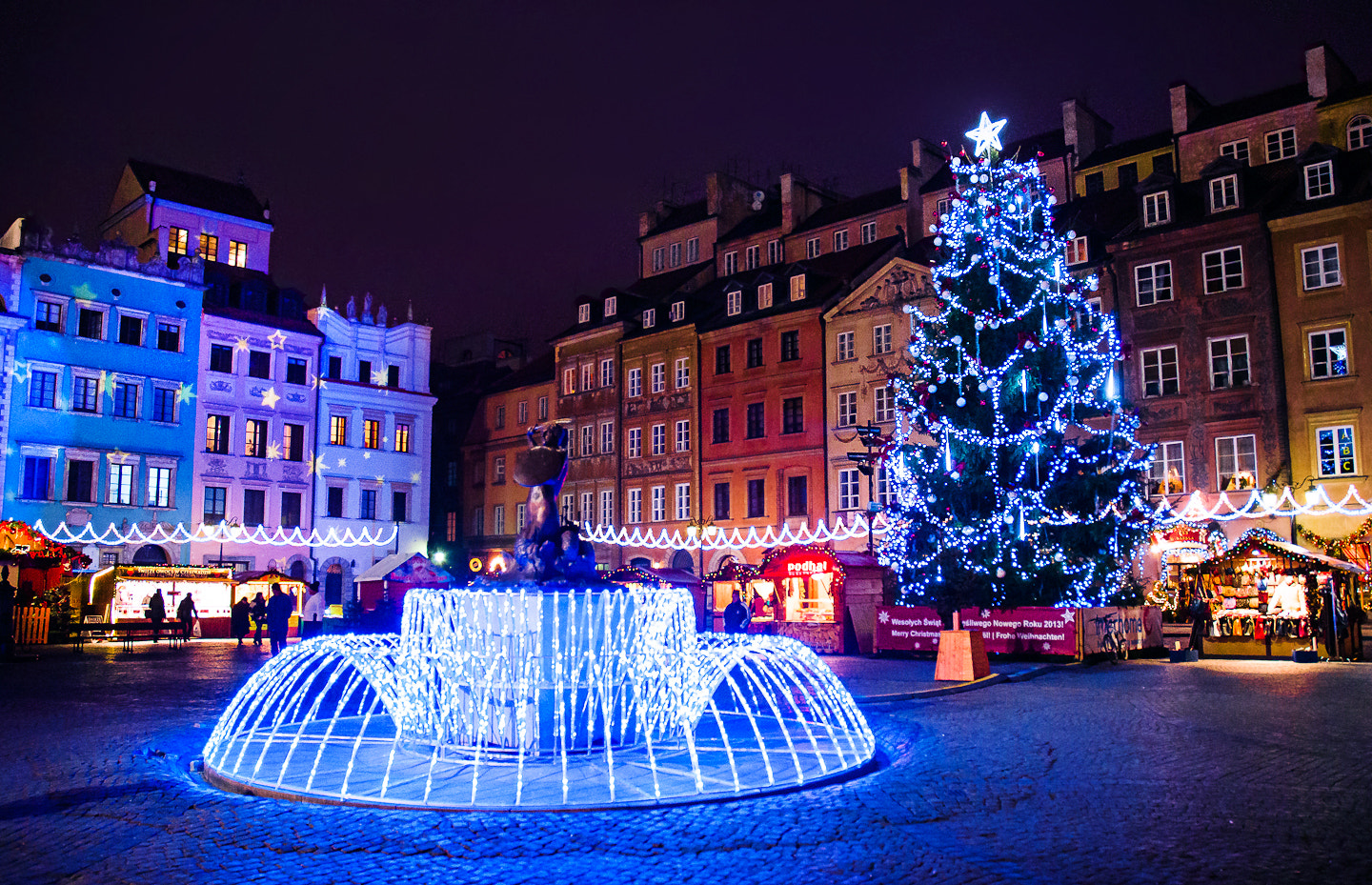 Photograph Warsaw Old Town Christmas Market by Mike Lesaski on 500px