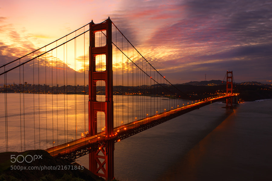 Golden Gate Bridge Sunrise by Richard Susanto (ChenHauHau)) on 500px.com
