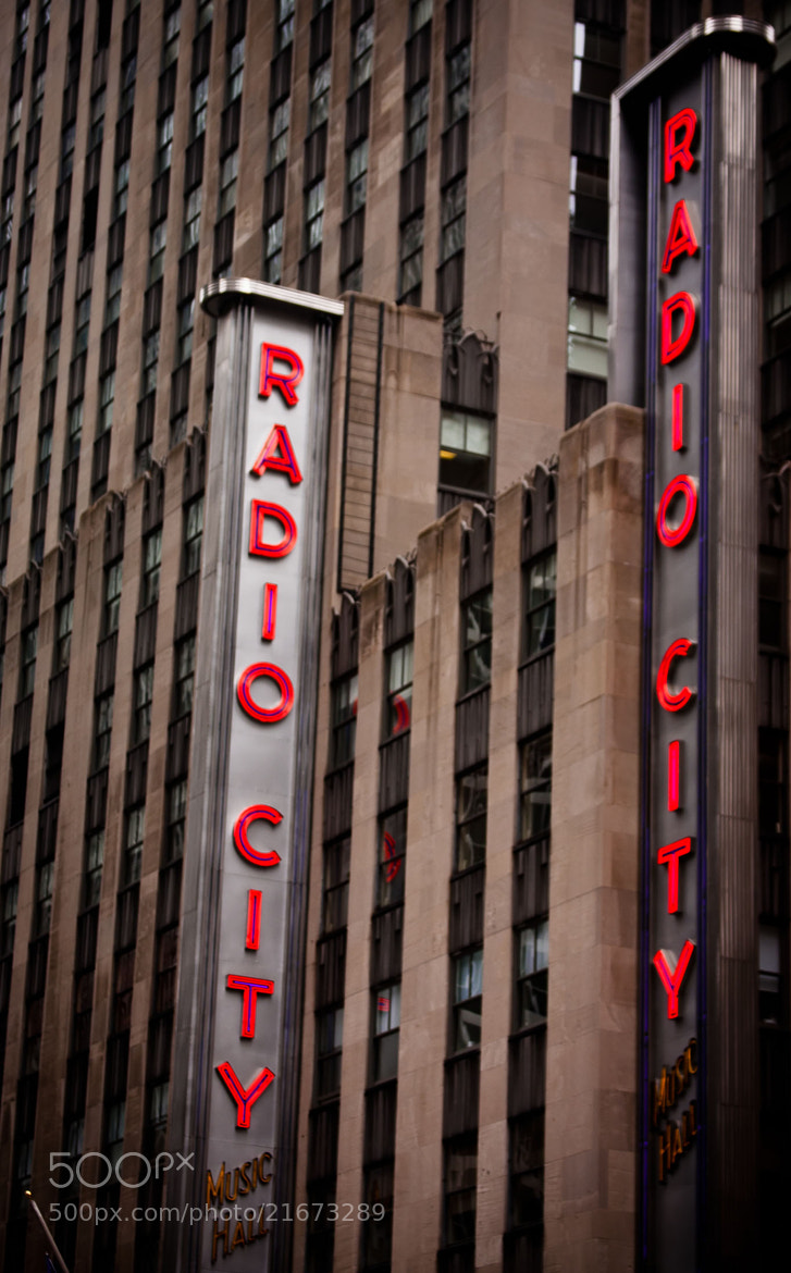 Photograph Radio City Music Hall at Dusk by Malik Vision on 500px