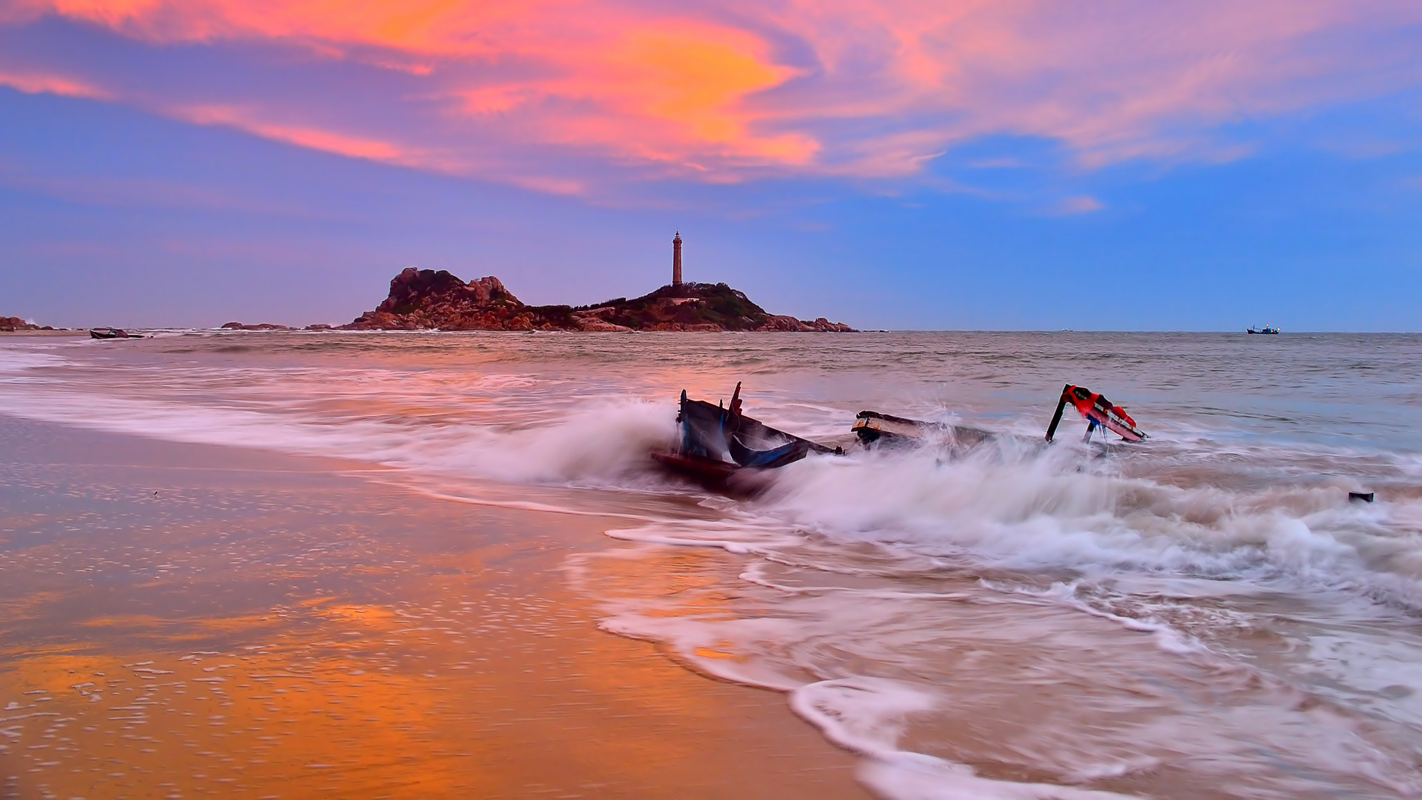 Photograph Sunset over Kega's lighthouse by Duc Vien on 500px