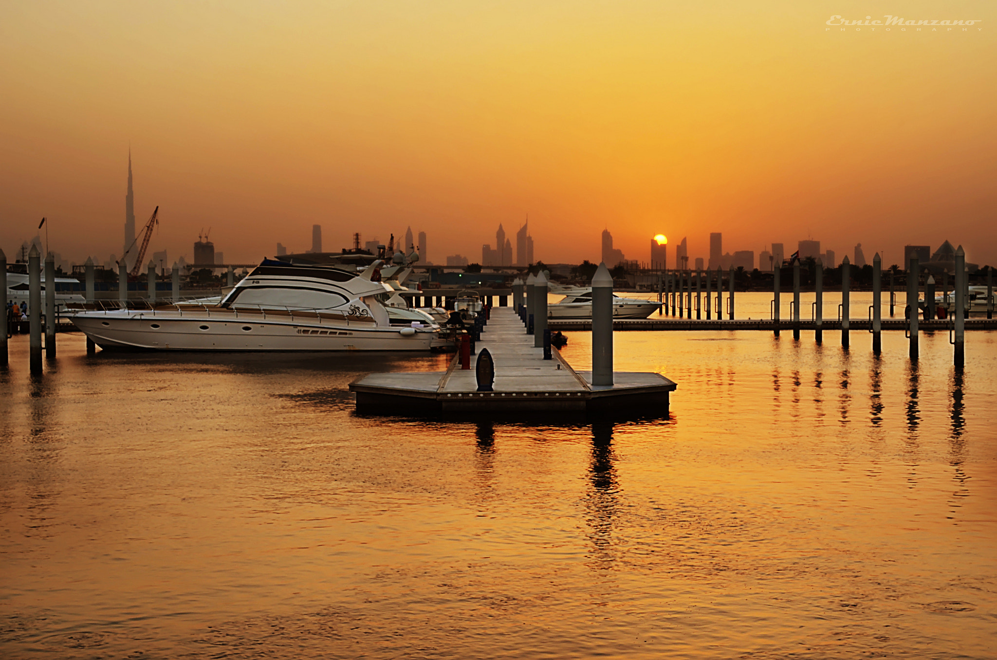Photograph Dubai's Golden Sunset by Ernie Manzano on 500px