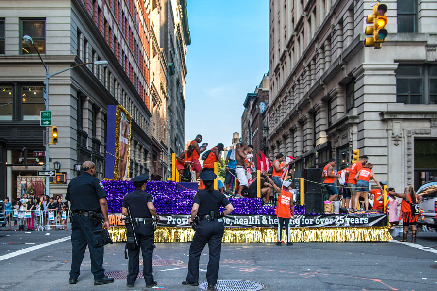 Police Boost Security at Pride Day Parade NYC by Natalia Guardia on 500px.com