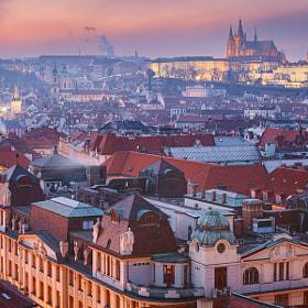Prague - Cold Night by Michael  Breitung on 500px.com