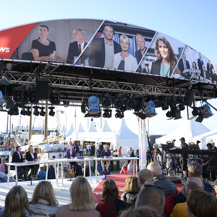 TV2 News stage at Folkemøde 2017