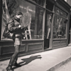Medium format black and white street photography