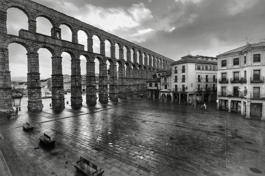 Aqueduct of Segovia, Segovia, Spain.