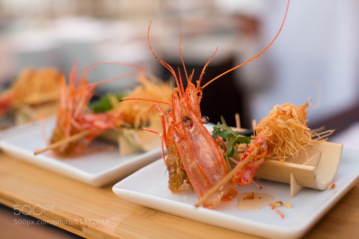Photograph Shrimp with Lavendar Honey & Candied Macadamia Nuts by Stephanie Hua on 500px