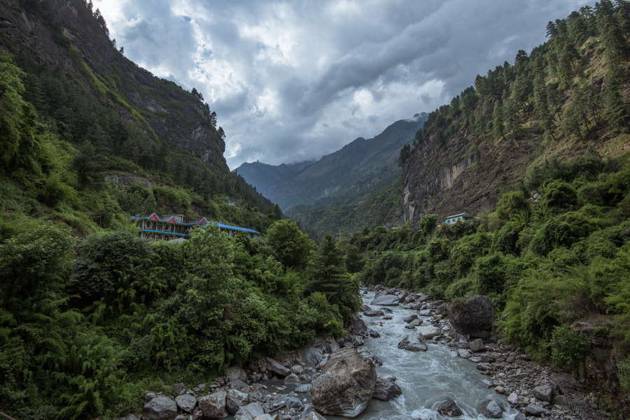 Lodge at Dharapani, Nepal by Volodymyr Mendus on 500px.com