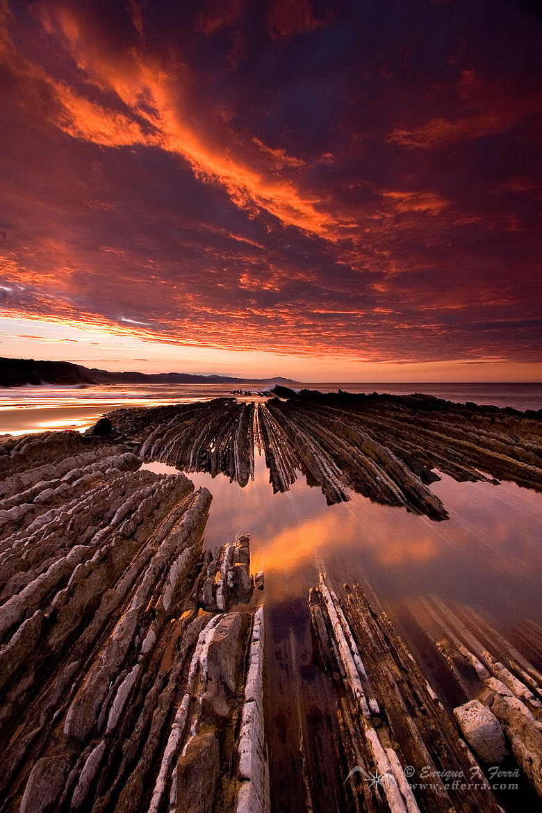 Photograph Rocks, Sea and Fire by Enrique F. Ferrá on 500px