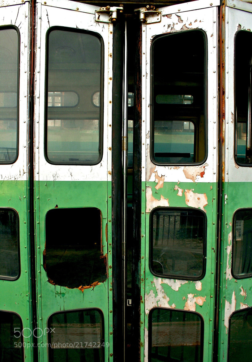 Photograph Green Train door by Taddeo Zacchini on 500px