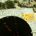 Entrance to Malibu Canyon Tunnel that was built in 1952.