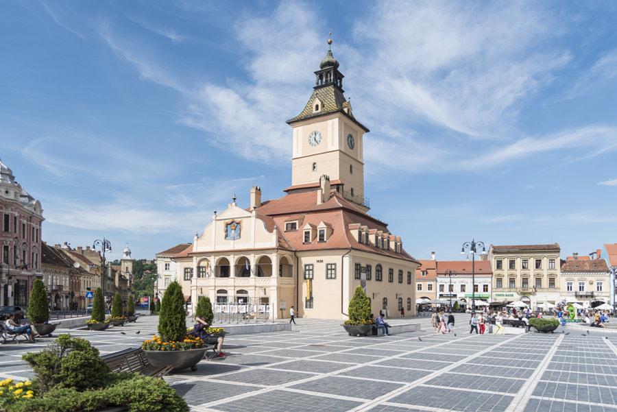 Piata Sfatului, in Brasov, Romania