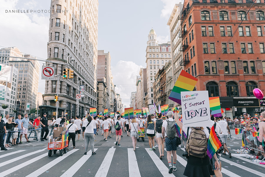 Gay Pride Parade New York NY by Danielle Teixeira on 500px.com