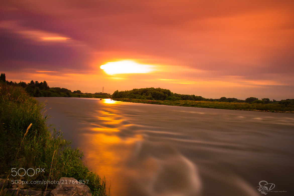 Photograph River sunset by Danny schurgers on 500px
