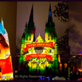 Christmas Lights @ St. Mary's Cathedral - Sydney, Australia by Harry Neelam (HarryNeelam)) on 500px.com