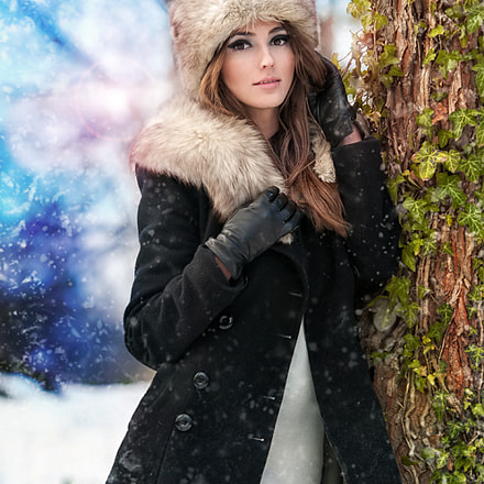 winter fashion shoot