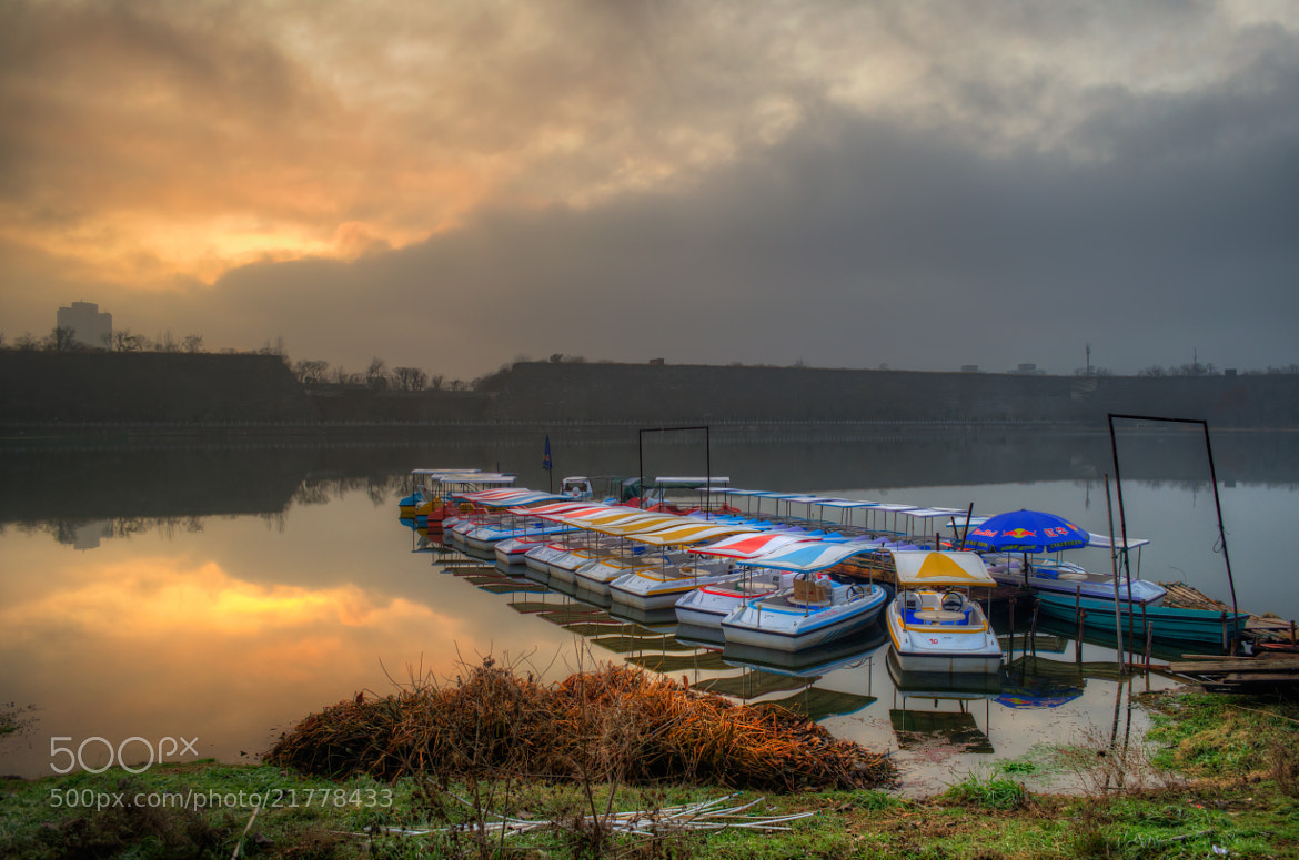 Photograph Boats at sunset by Soleil Neon on 500px