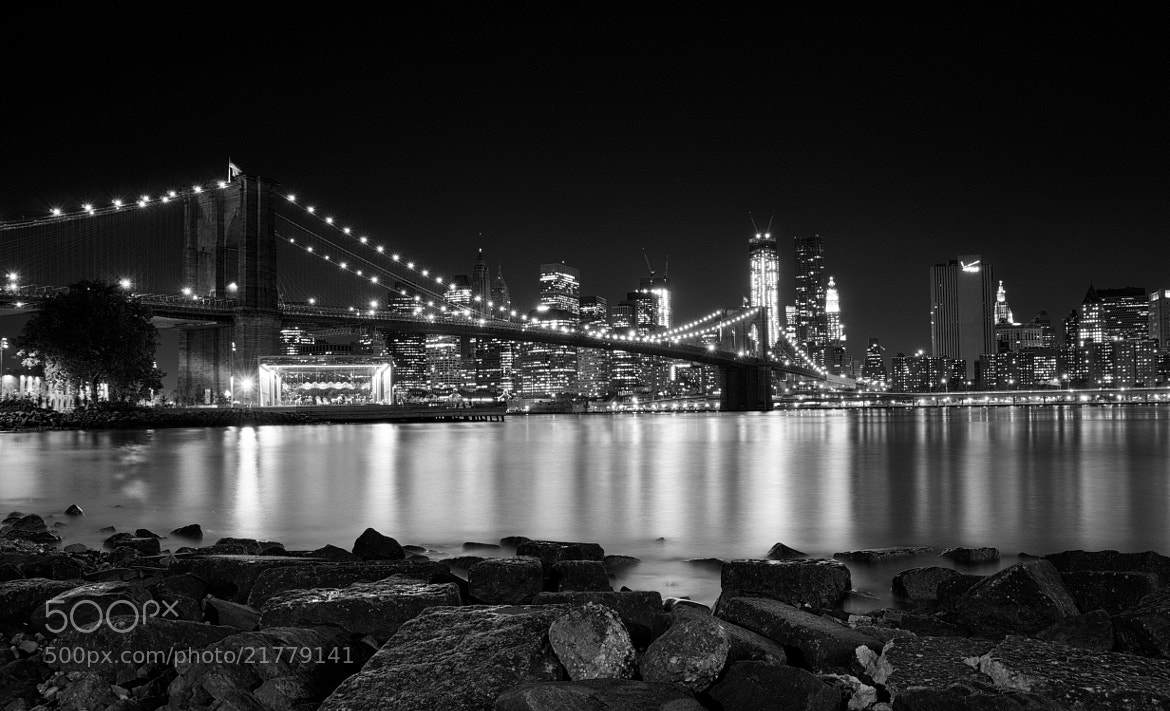 Photograph Night in the City - Black and White by Dan Goldberger on 500px
