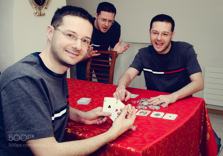Me, me and me again, playing poker ;-)