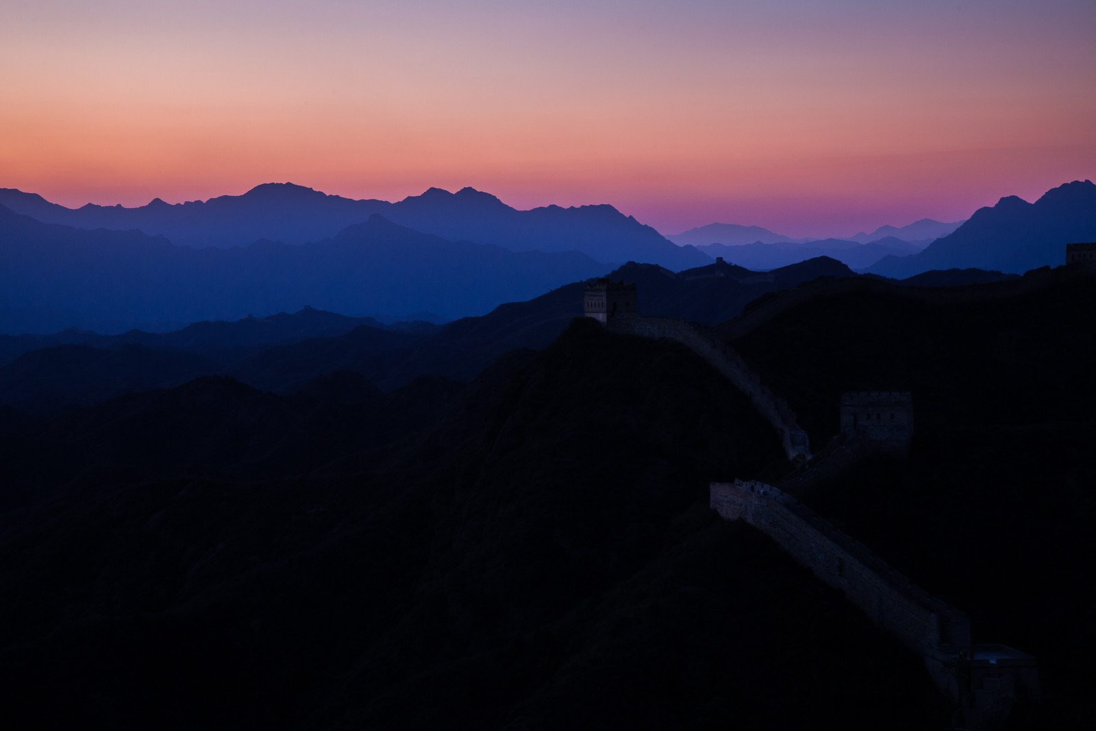 Photograph Great Wall at sunset by Marton Apai on 500px
