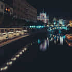Ljubljana through the night