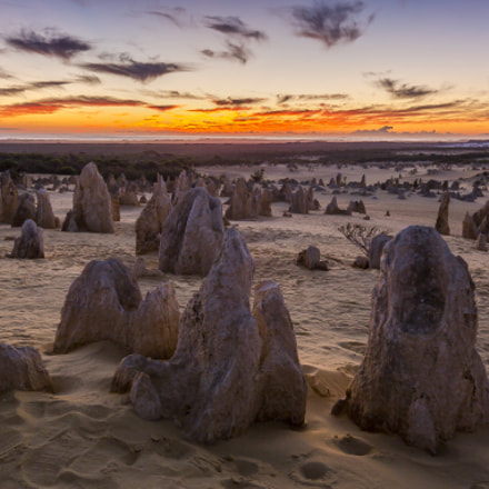 Sunset at Pinnacles Desert, Western Australia