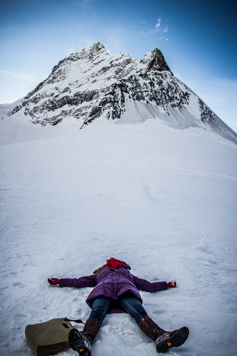 Photograph Snow Angel On Jungfrau by  Ying Fang on 500px