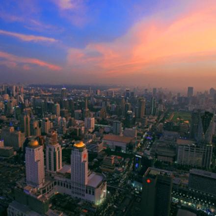 Bangkok skyline at dusk
