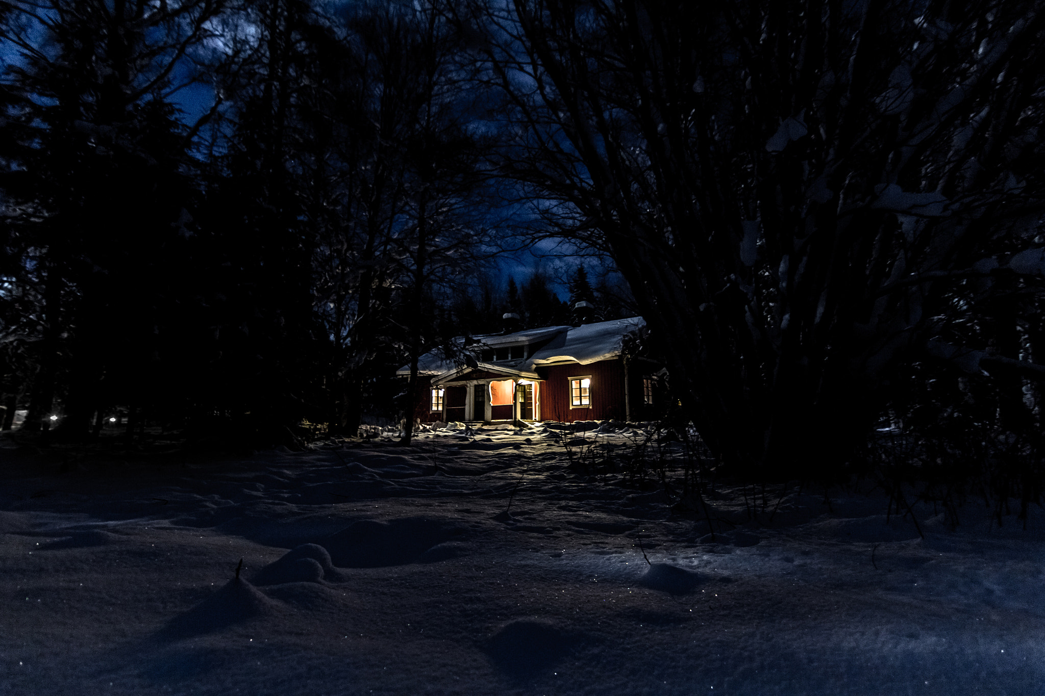 Photograph Winter Cabin by Leigh  Bloomfield on 500px