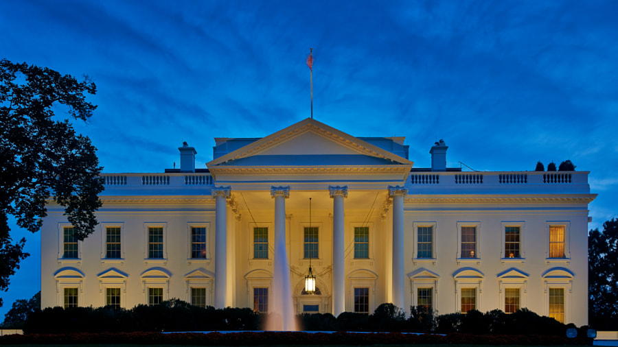 Photograph The White House at Dusk by Erik Pronske on 500px