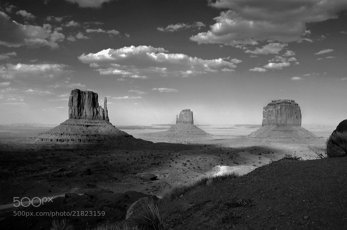 Photograph Monument Valley ~ Black and White by Lucinda Walter on 500px