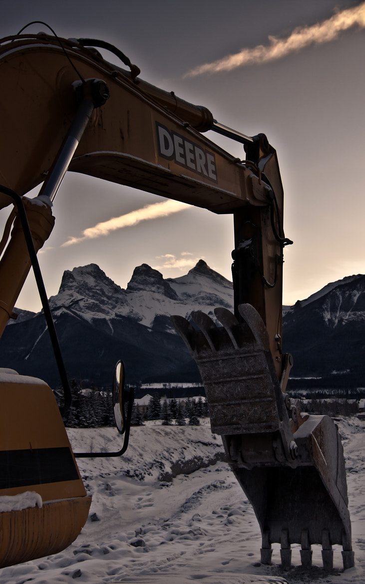 Photograph Three Sister Mountains. Canmore Alberta by julian fesser on 500px
