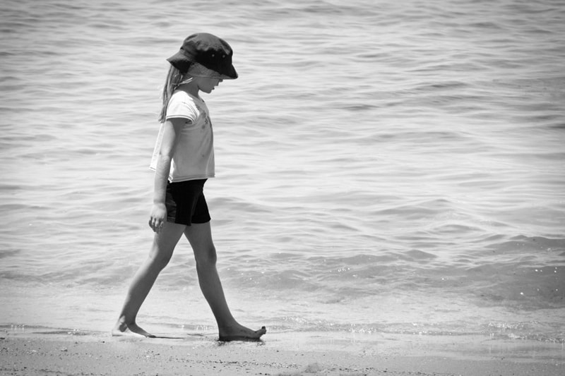 Photograph Walking in the Waves by Julia K on 500px