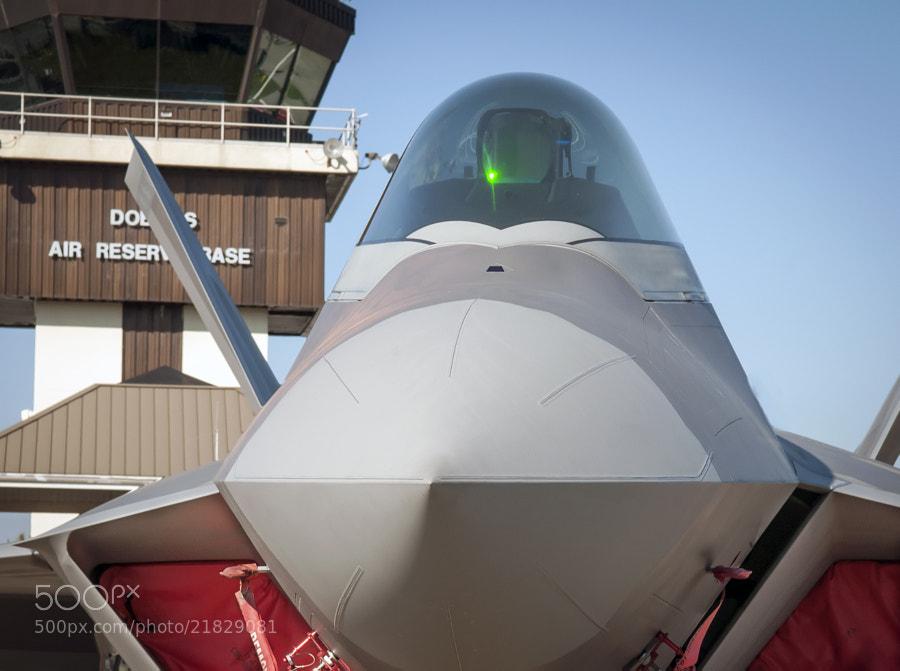 F-22 Raptor on static display at Dobbins ARB