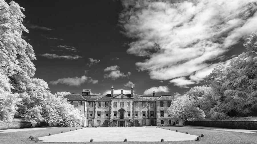 Newhailes House infrared (front view)