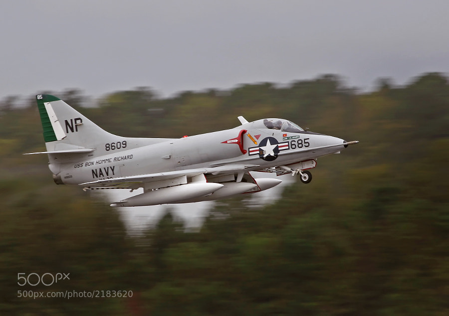 Nice to see one still flying.  This example is listed as an A-4C and is privately owned and flown.