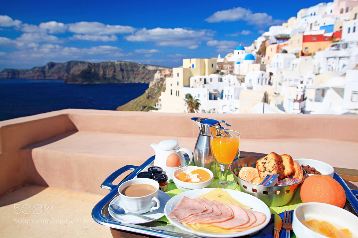 Photograph Santorini style breakfast by sygnus 000 on 500px