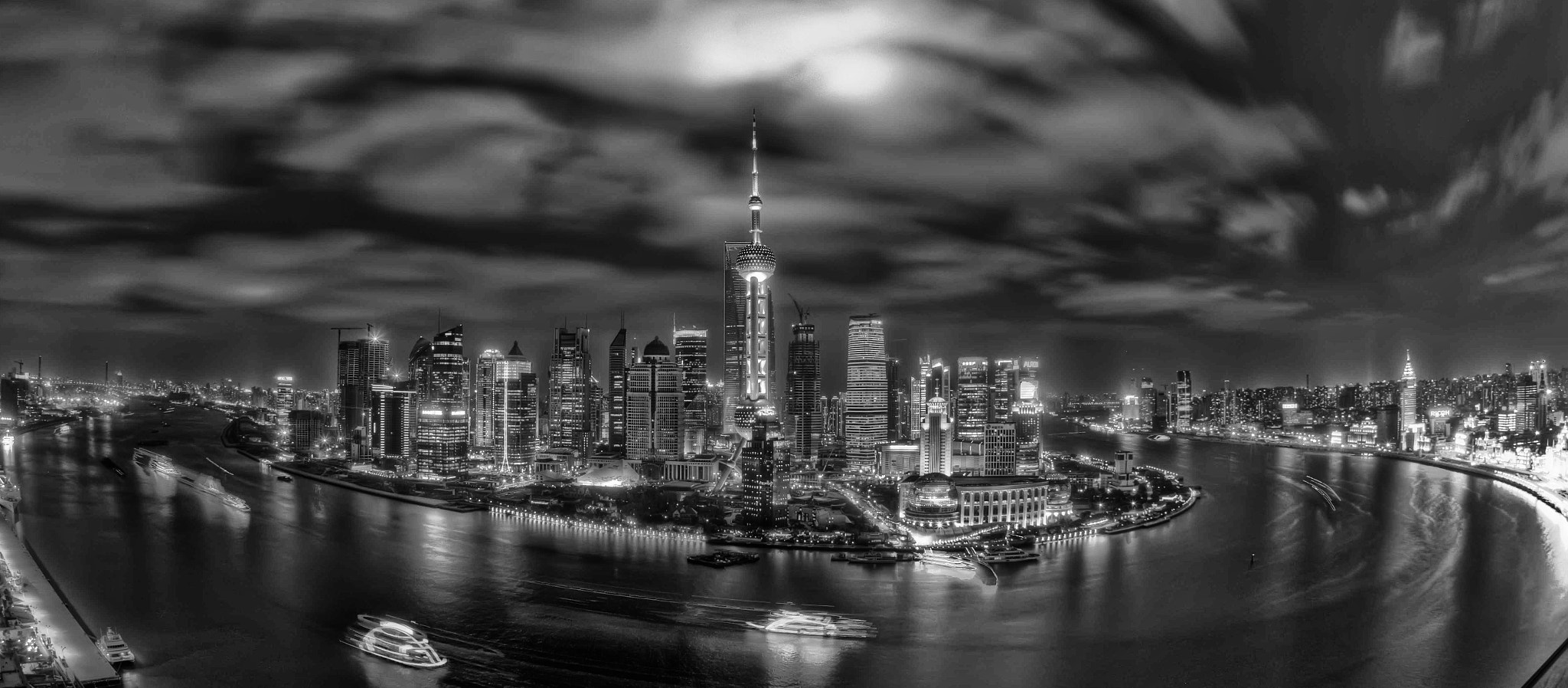 Photograph Pu Dong skyline from the Hyatt hotel by Paul Cowell on 500px