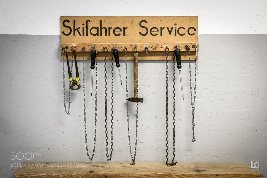 Skifahrer Service