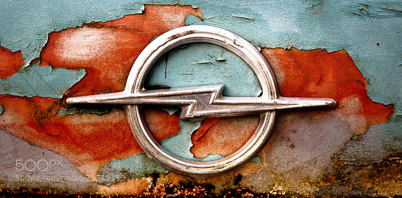 Details from a rusty Opel Rekord 1700.