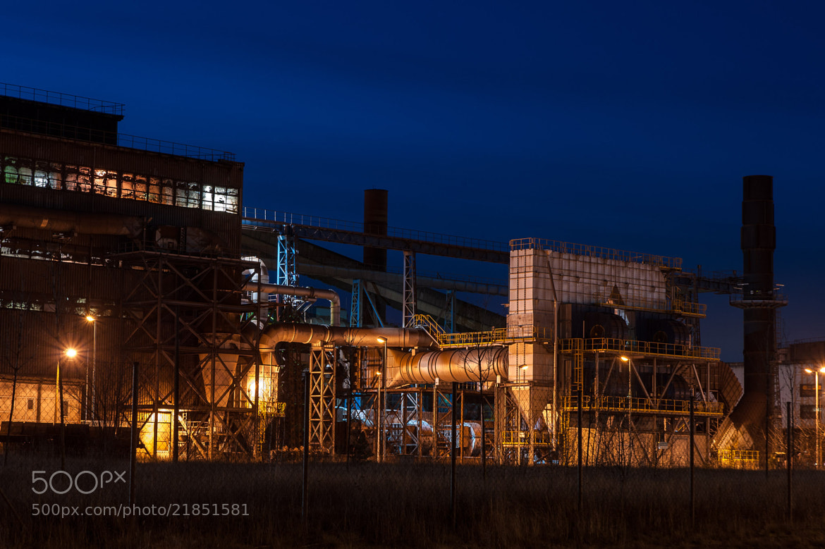 Photograph Evening in the industrial zone by teamnullvier on 500px