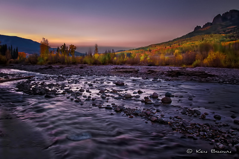 Photograph Nightfall On The Cimarron by Ken Brown on 500px