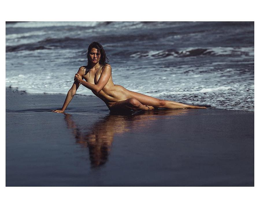 Black sand beach with @carolinajaramillomodel #bali #riccphoto by Riccphoto on 500px.com