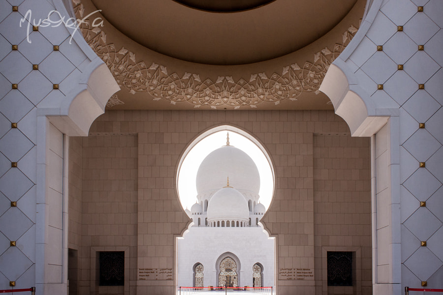 Sheikh Zayed Masjid - Main Dome Through The Enterance